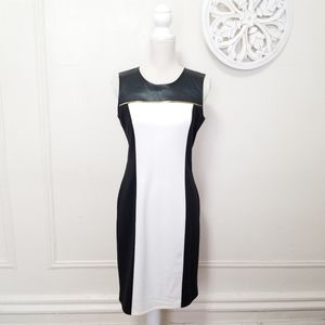 Calvin Klein size 6 color block midi dress